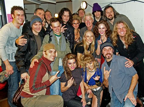 cast of rock file the 2008 cast of the broadway musical rock of ages jpg