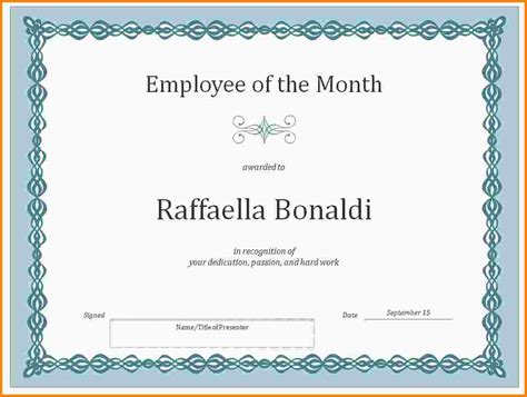 employee of the month certificate template with picture 11 employee of the month certificate templates nypd resume