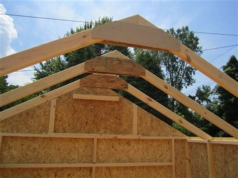 Shed Rafters by Plans For Garden Shed With Porch How To Build Storage