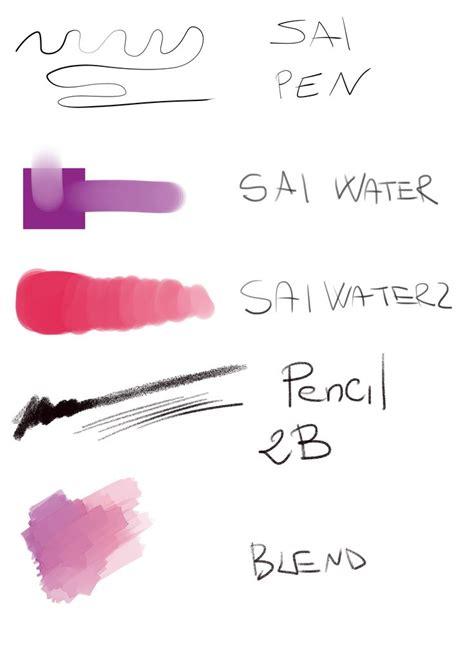 paint tool sai watercolor brush sai brushes for clip studio paint studio 5