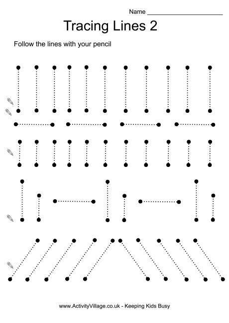 Printable Tracing Vertical Lines | 10 best images of line tracing worksheets tracing lines