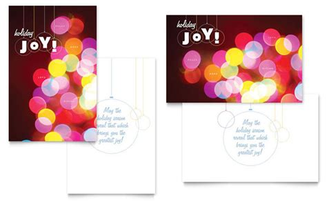 lights greeting card template design