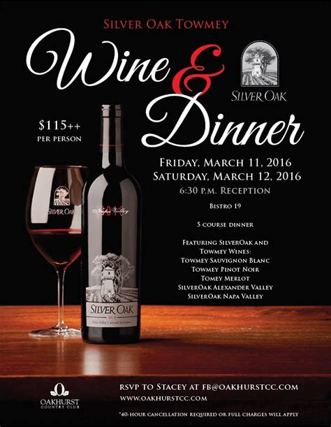 wine flyer template wine dinner template wine dinner event