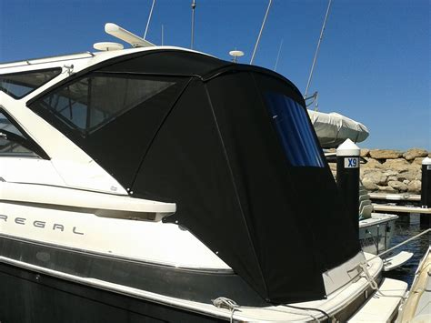 boat upholstery perth side and rear covers black sunbrella prestige marine