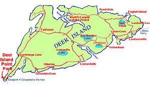 map locations on deer island