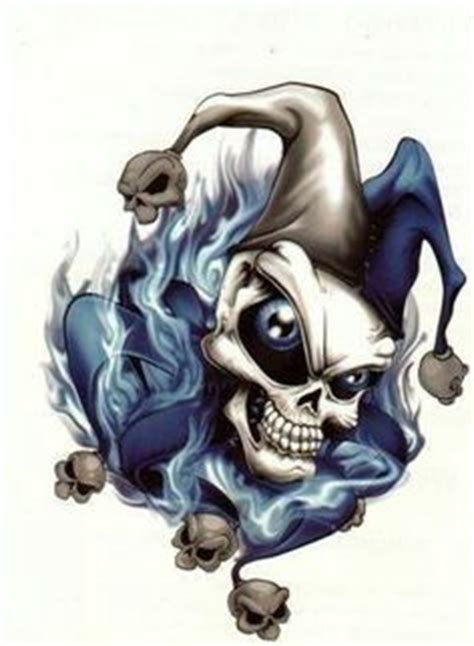 skull joker tattoo vorlagen scary evil skeleton l clowns for motorcycle