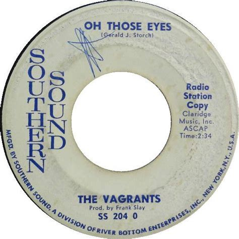 Oh Those by The Vagrants Oh Those Vinyl At Discogs