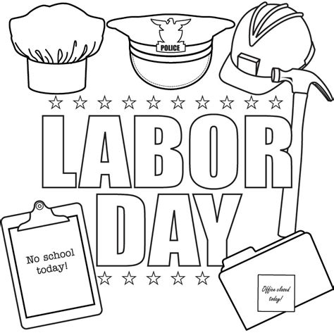 printable coloring pages for labor day printable labor day coloring page coloringpagebook com