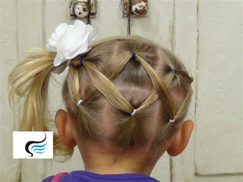 cute girl hairstyles zig zag cute and simple horizontal zigzag ponytail hairstyles