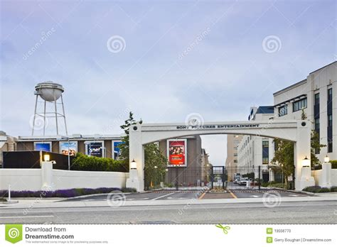hollywood studios gate price sony pictures entertainment studio main gate editorial
