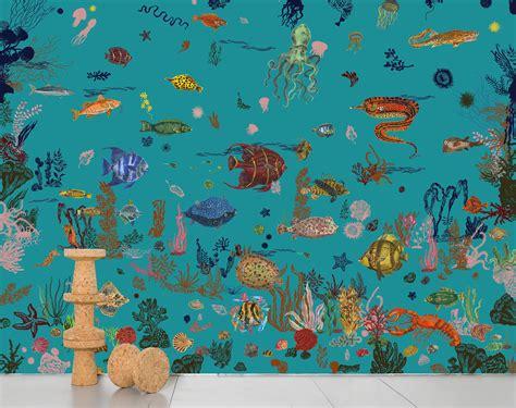 Plan De Travail Inox 1964 by Papiers Peints Nathalie L 233 T 233 Sous La Mer Blue Domestic