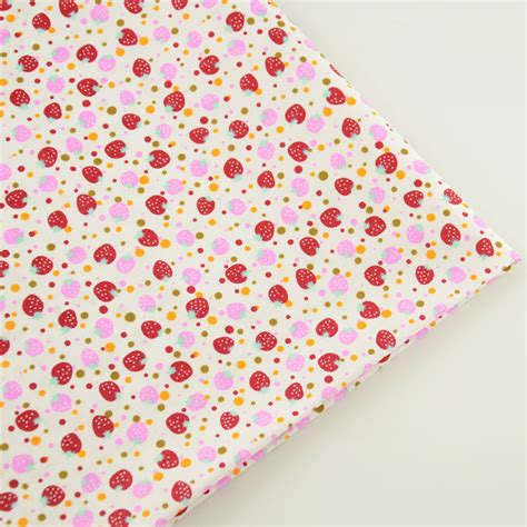 lovely styles to sow with material lovely red and pink strawberry designs 100 cotton fabric