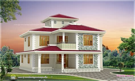 4 bhk kerala style home design indian house plans