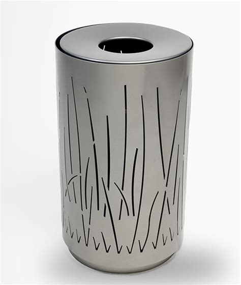 Landscape Forms Trash Receptacle Top Ten Waste Bins 3rings