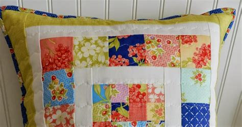 scrappy patchwork pillow tutorial a quilting a