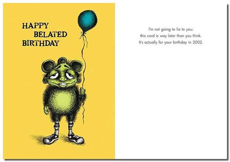 happy late birthday card template 42 best belated birthday greeting card pictures
