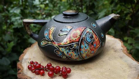 ceramic holiday gifts gift ceramic teapot fish ceramic by ceramastudio