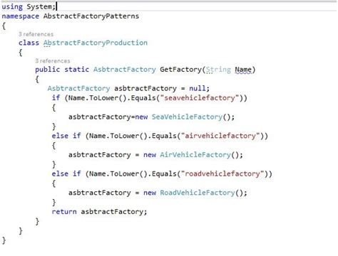 factory pattern in c sharp abstract factory pattern in c