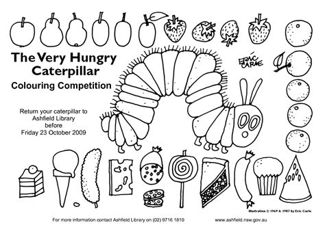 the hungry caterpillar template hungry caterpillar 40 colouring competition by