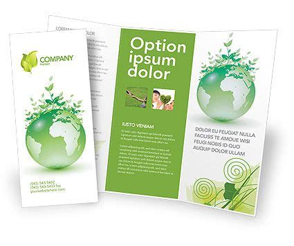 Double Sided Tri Fold Green Environment Brochure Template Http Www Poweredtemplate Com Sided Tri Fold Brochure Template