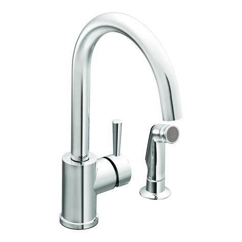 moen ca7106 chrome single handle kitchen faucet with high