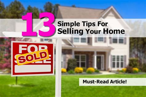 13 simple tips for selling your home