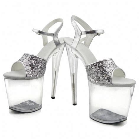 silver glitter flower shoes gorgeous gold silver glitter high heels 8 inch white