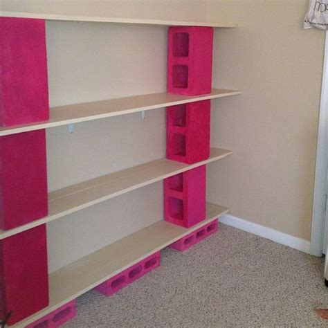 block bookshelves cinder block furniture diy shelves bookshelves made from