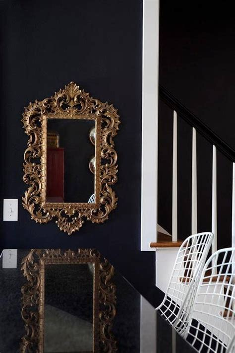 inspirations  black rococo mirrors