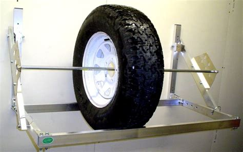 pit products  ft universal trailer tire rack