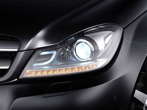 2012 Mercedes C Class Coupe Headlights 1280x960