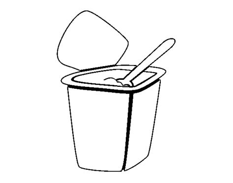 free coloring pages of yogurt colorear