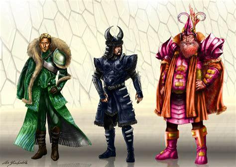 imagenes guerreros oscuros dise 241 os para los tres guerreros y 191 la encantadora en thor