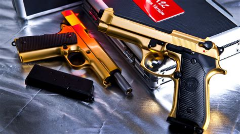wallpaper gun gold gold gun wallpapers