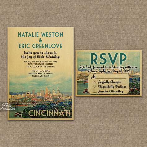 affordable wedding invitations cincinnati cincinnati ohio wedding invitations vtw nifty printables