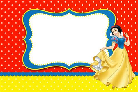 snow white free printable invitations labels or cards