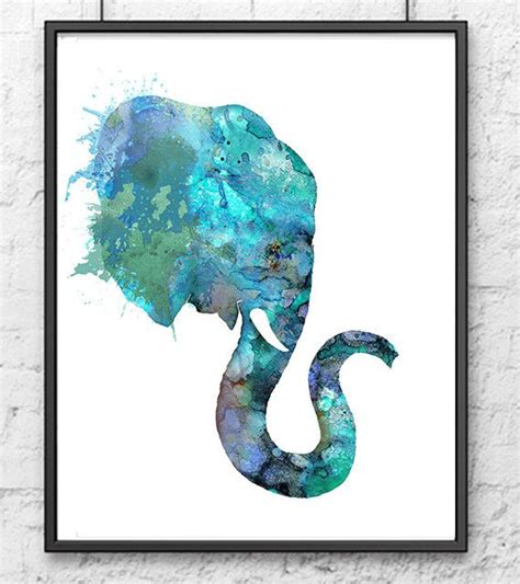 watercolor elephant tutorial blue elephant watercolor animal painting animal art home
