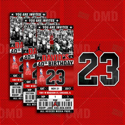 air jordan ticket style sports party invites sports invites