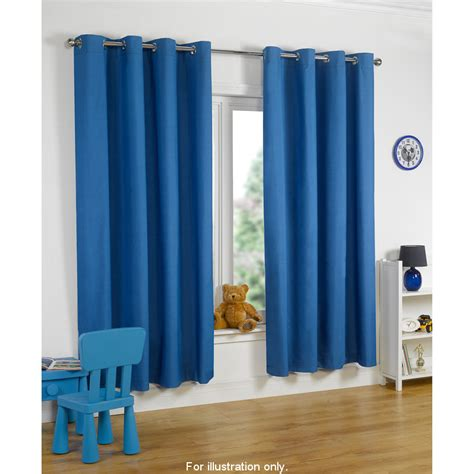 Baby Blue Eyelet Curtains b m