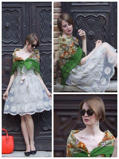 Pasmina Sofia Flower nymphashion n giorgia johns dress comtesse sofia shawl kenzo sunnies floral shawl
