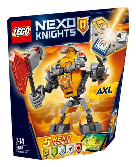 Lego 70365 Nexo Knights Battle Suit Axl 70365 lego nexo knights battle suit axl 88 pieces age 7 14