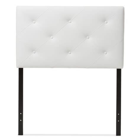 twin size upholstered headboards baxton studio baltimore modern and contemporary white faux