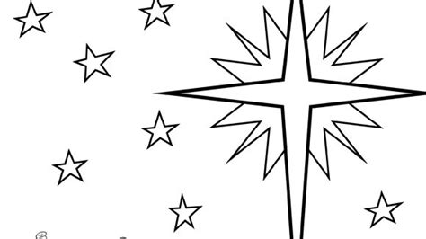 colouring pages christmas star christmas series star of bethlehem grandparents com
