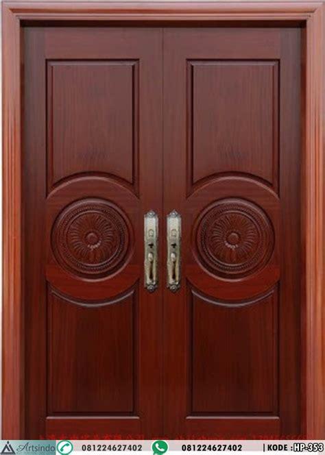 model pintu depan panil klasik modern kupu tarung desain simple harga pintu