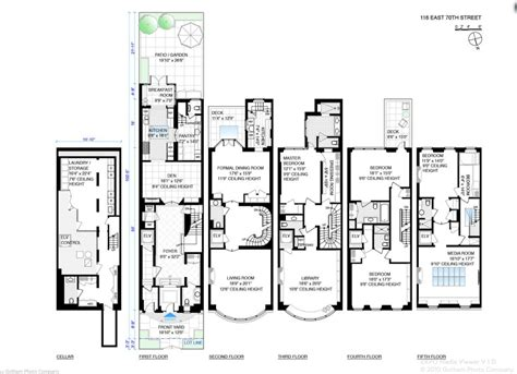 5 bedroom townhouse floor plans 33 million 5 story townhouse in new york ny homes of