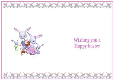 easter card inserts templates easter bunnies insert cup178918 719 craftsuprint