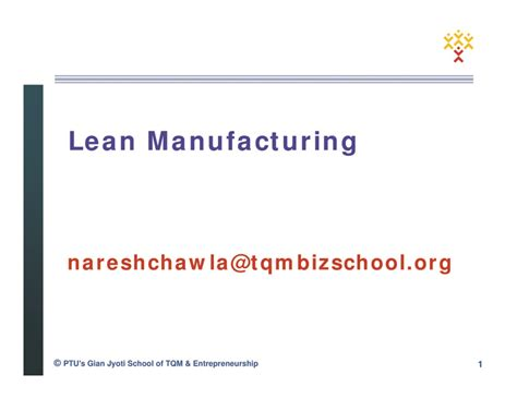 Mba Project Report On Lean Manufacturing by Lean Manufacturing Concept Overview