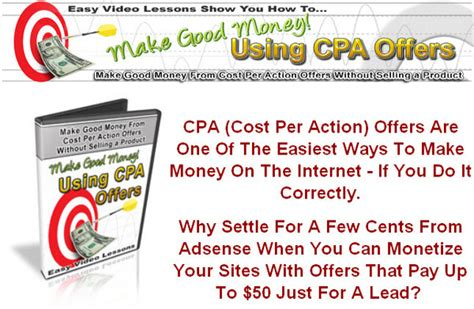Make Money Online Cpa Offers - how to make money using cpa offers canton trade days hours