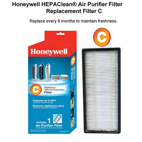 honeywell hepaclean replacement filter c hrf c1 the home