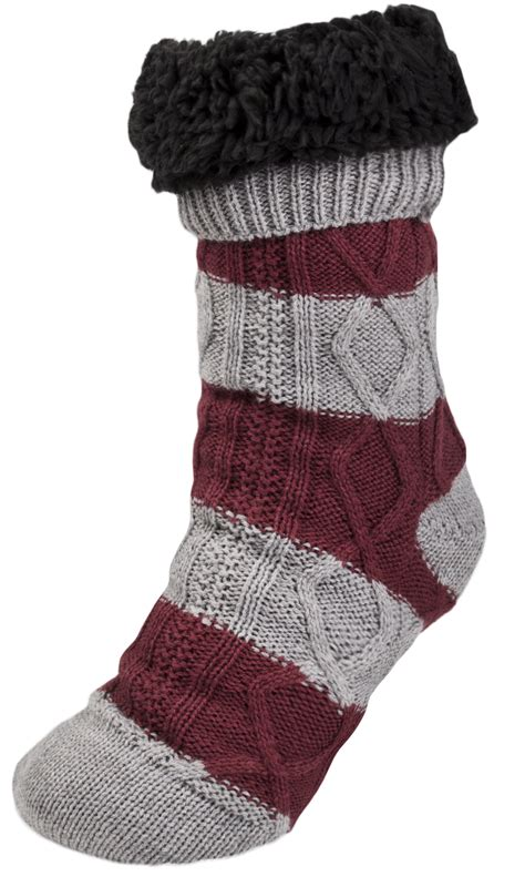 mens knitted slipper socks mens cosy slipper socks warm lined knitted bed socks
